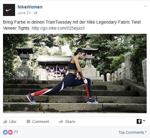 Micro Content Nike Women Facebook