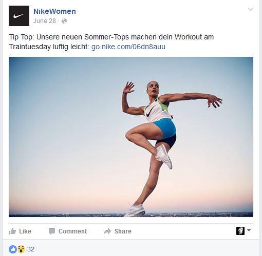Micro Content Nike Women Facebook 2