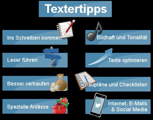 Tipps zum Texte schreiben
