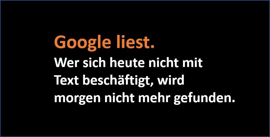 Google liest